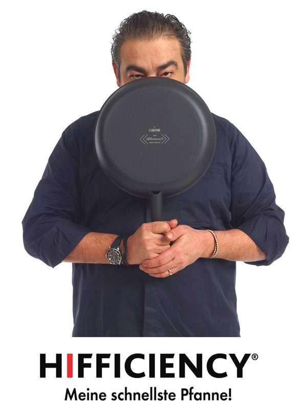 Juan Amador mit Hifficiency Pfanne